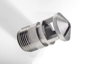 aerospace part made from difficult to machine material Iconel